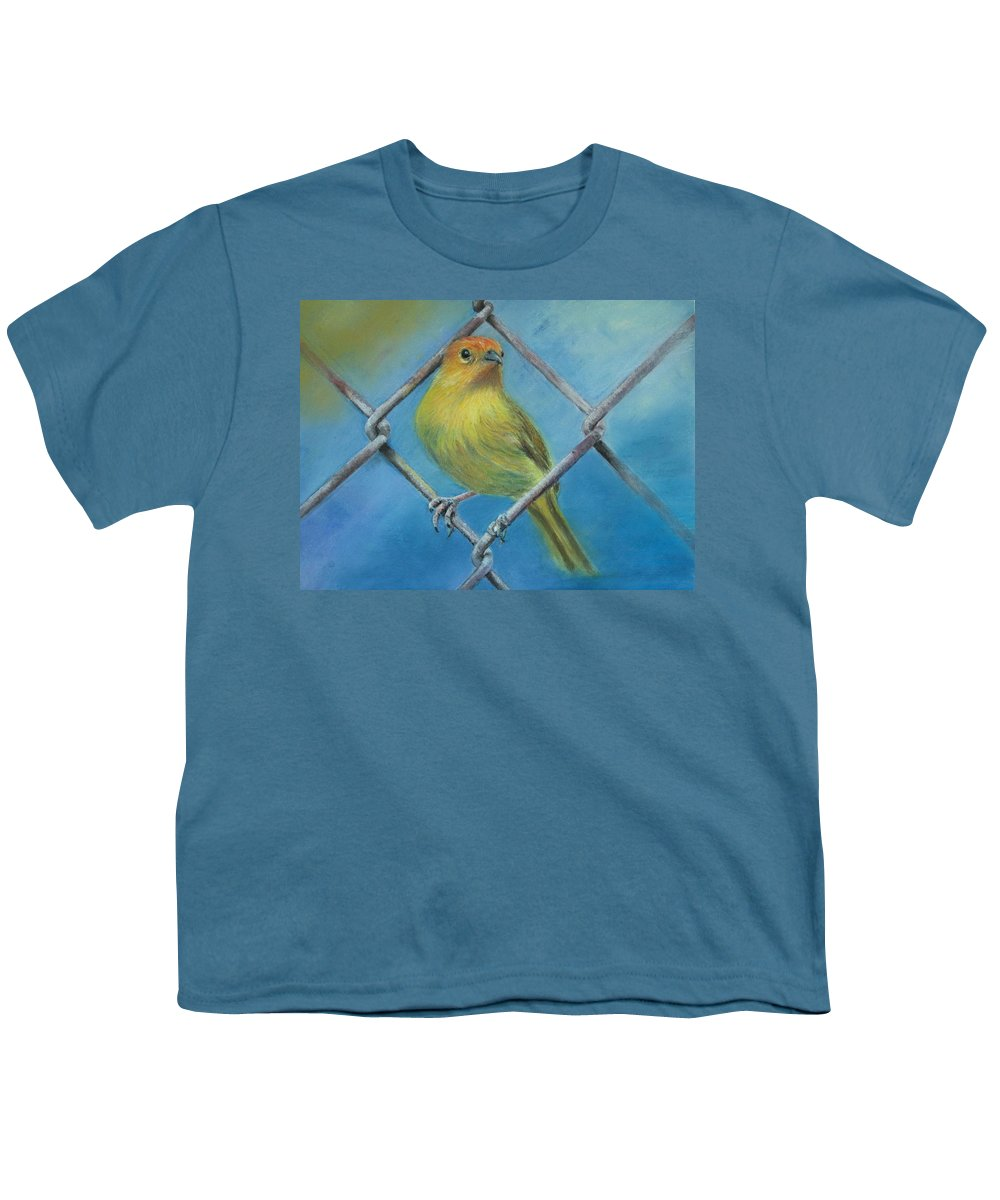 Bird Youth T-Shirt featuring the painting Safron Finch by Ceci Watson