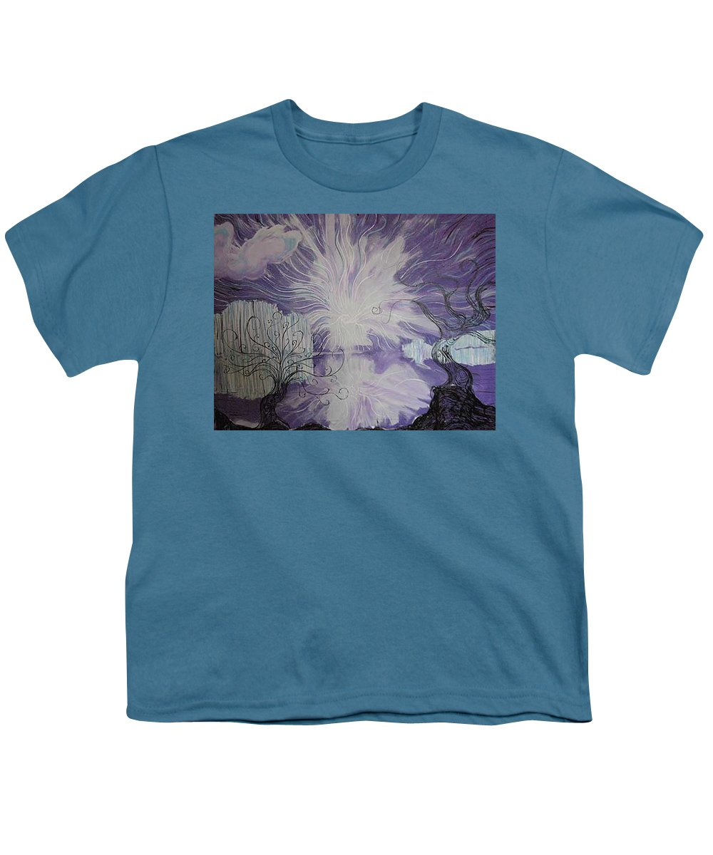 Squiggleism Youth T-Shirt featuring the painting Shore Dance by Stefan Duncan
