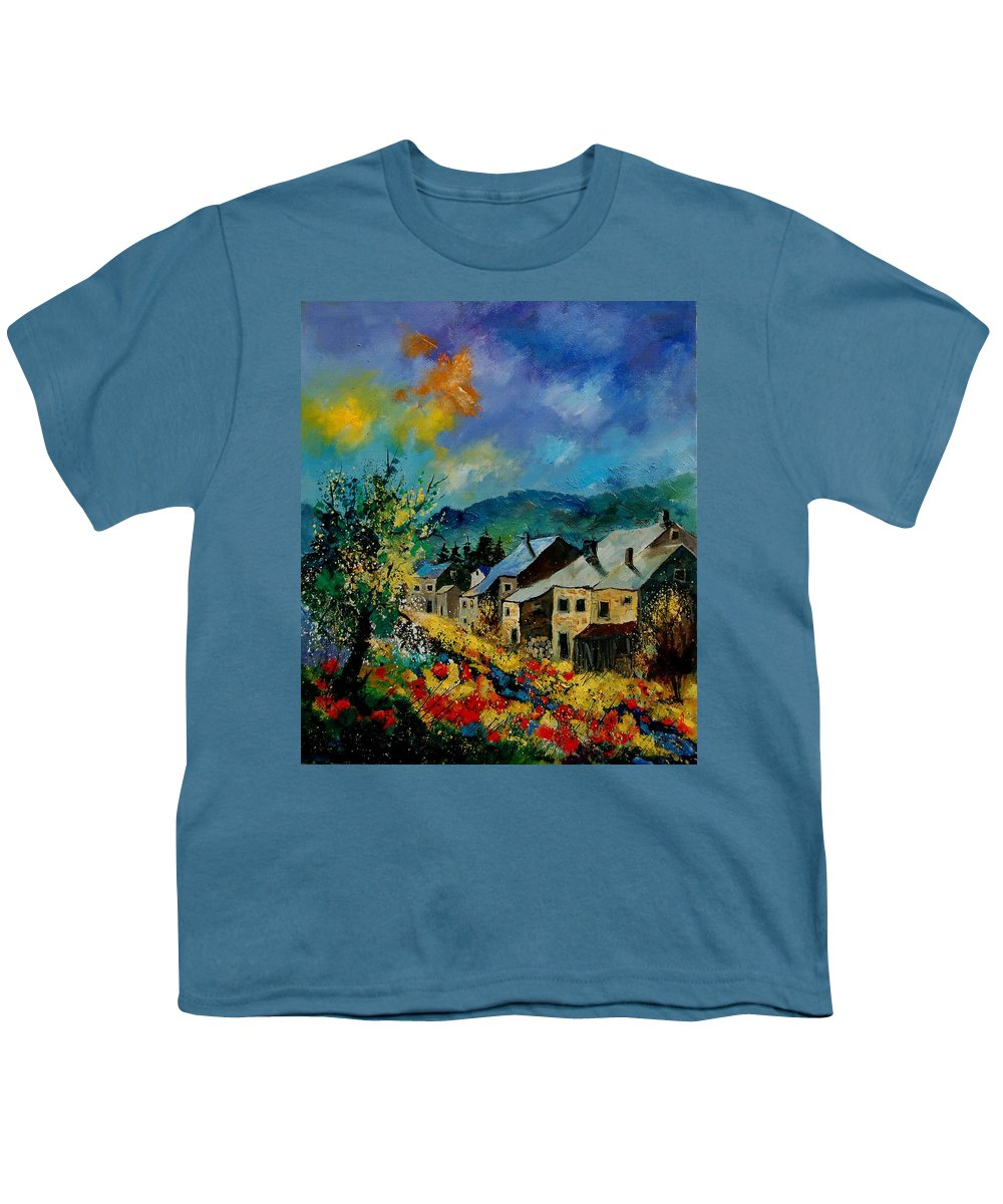 Poppies Youth T-Shirt featuring the painting Summer In Mogimont by Pol Ledent