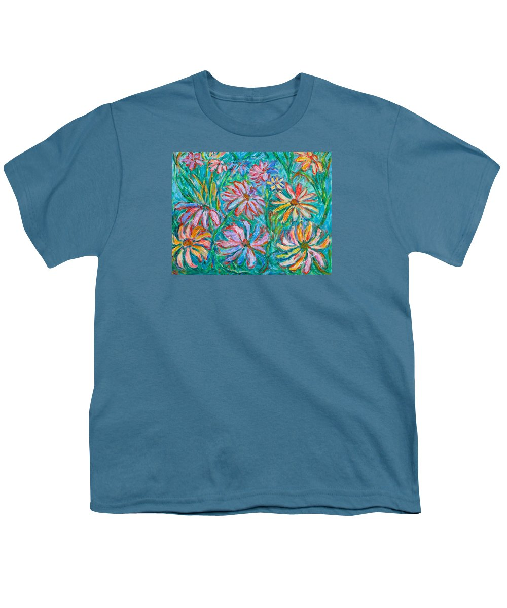 Impressionist Youth T-Shirt featuring the painting Swirling Color by Kendall Kessler