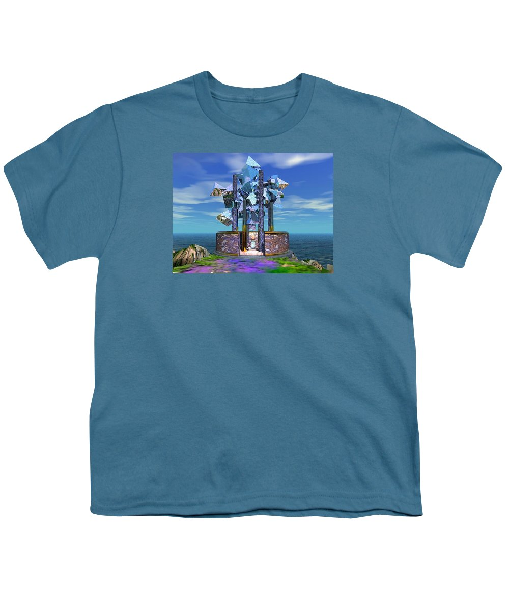 Sci-fi Youth T-Shirt featuring the digital art The Aardvark Art Museum by Dave Martsolf