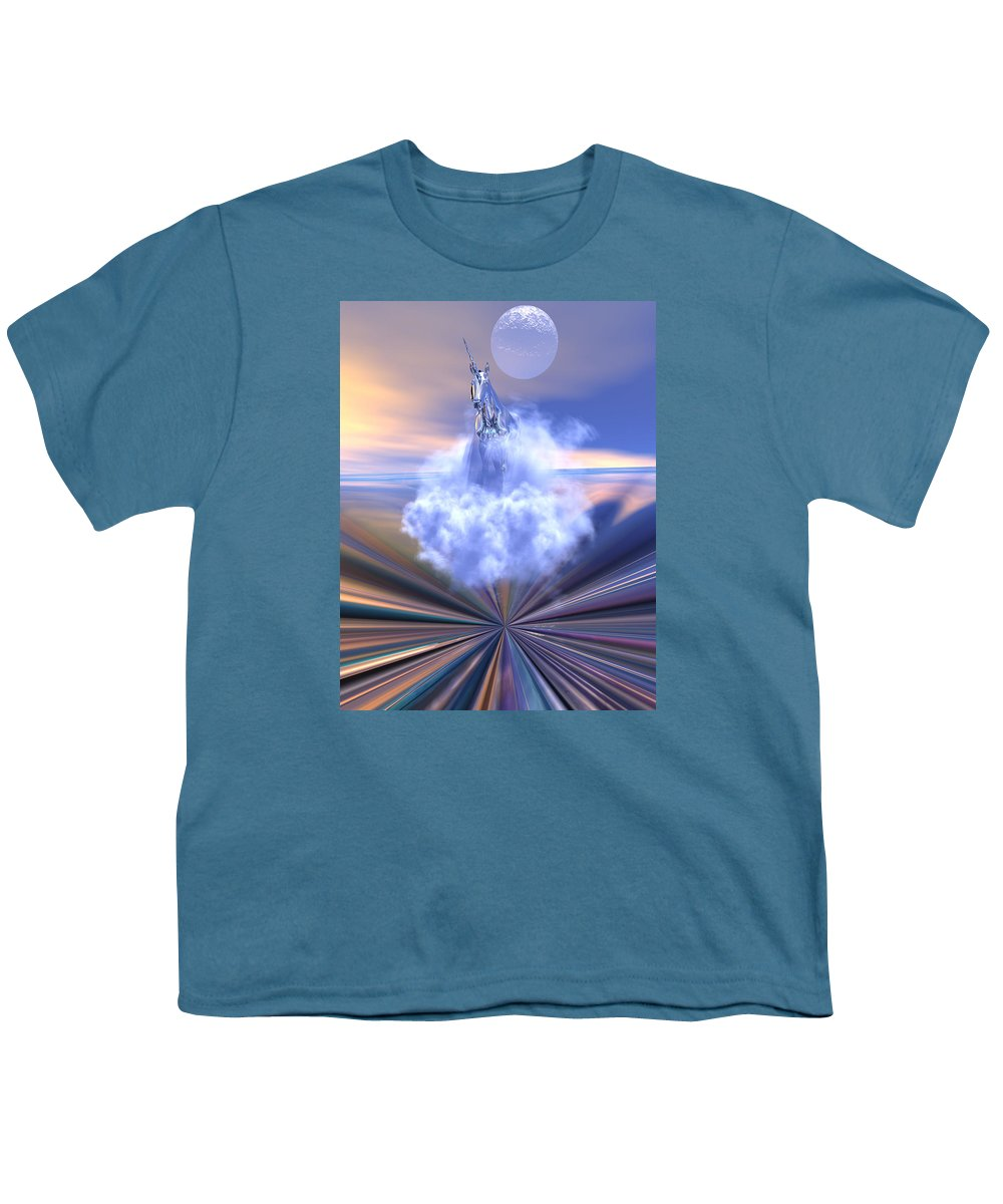 Bryce Youth T-Shirt featuring the digital art The Last Of The Unicorns by Claude McCoy
