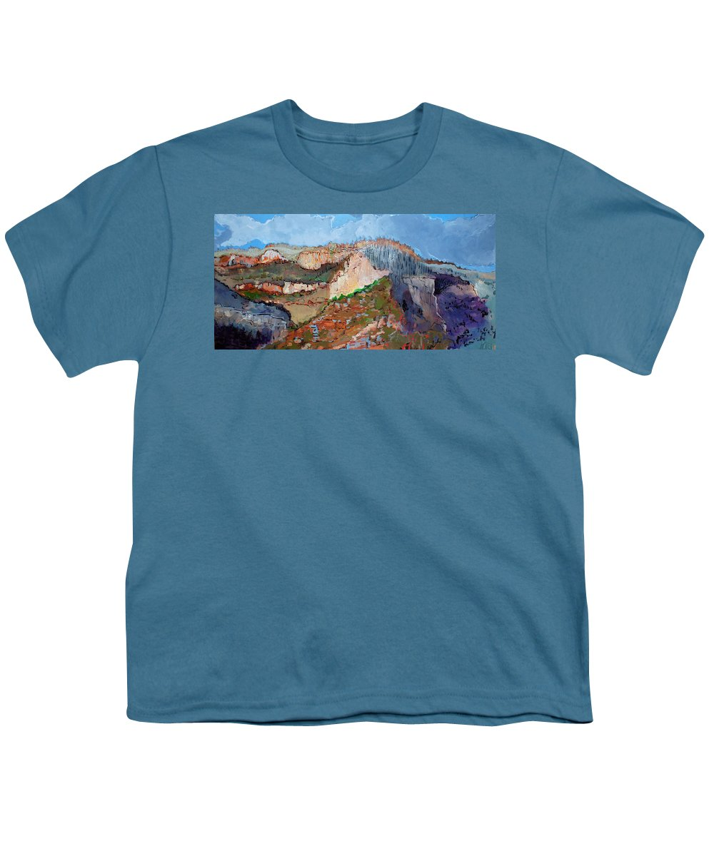 Mountains Youth T-Shirt featuring the painting The Rockies by Kurt Hausmann