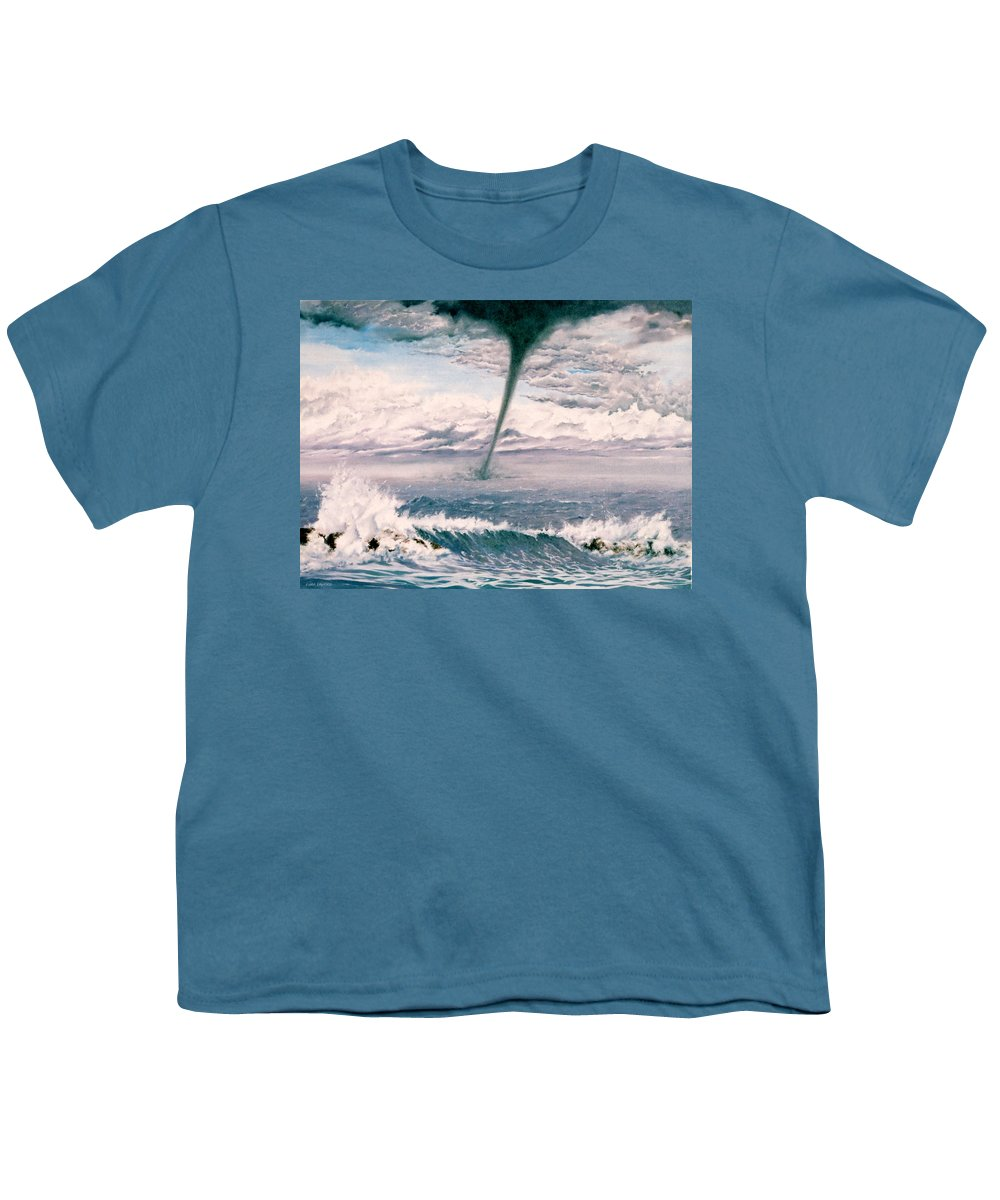 Seascape Youth T-Shirt featuring the painting Twisted Nature by Mark Cawood