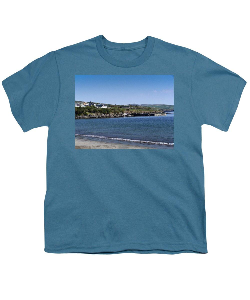 Irish Youth T-Shirt featuring the photograph Ventry Beach And Harbor Ireland by Teresa Mucha