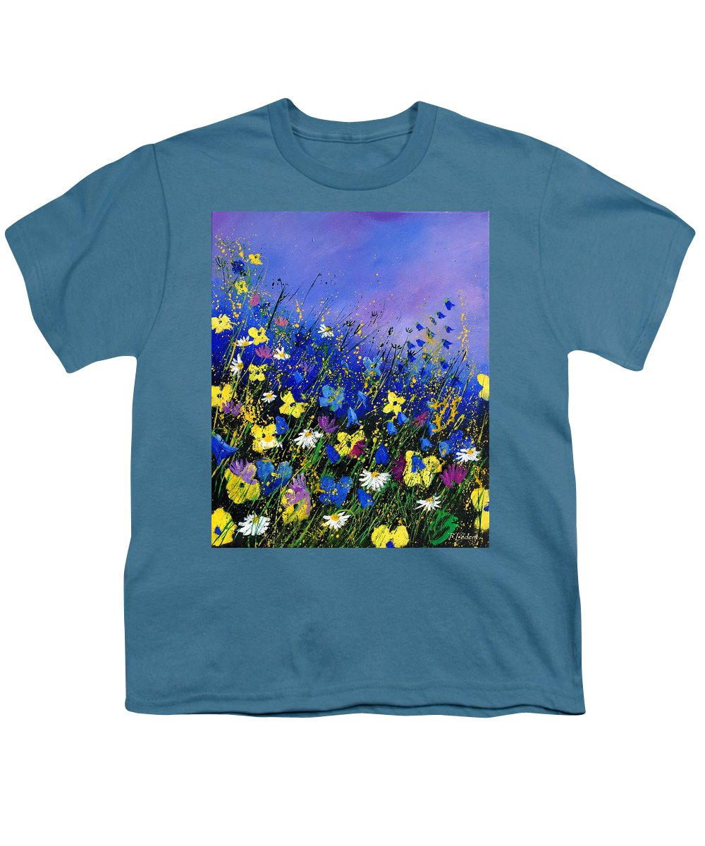 Flowers Youth T-Shirt featuring the painting Wild Flowers 560908 by Pol Ledent