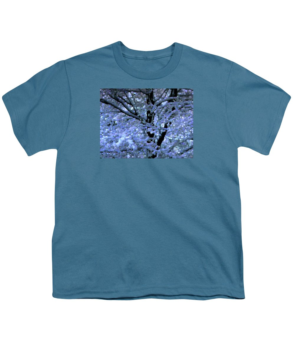 Abstract Youth T-Shirt featuring the digital art Winter Light by Dave Martsolf