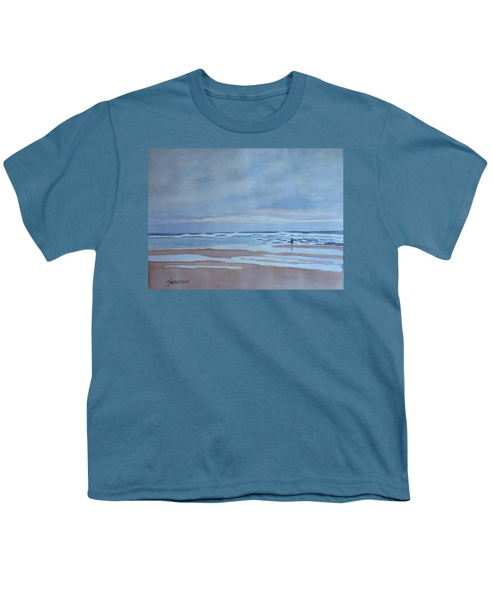 Ocean Youth T-Shirt featuring the painting Winter Morning Solitude by Jenny Armitage
