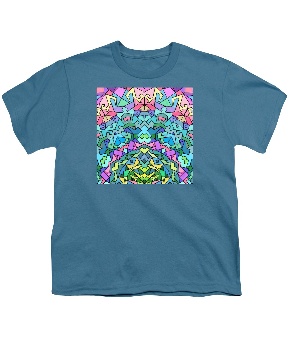 Nonobjective Youth T-Shirt featuring the digital art Cosmic Lock by James Fryer