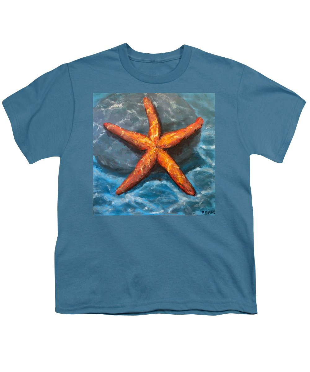 Starfish Youth T-Shirt featuring the painting Starfish by Paul Emig