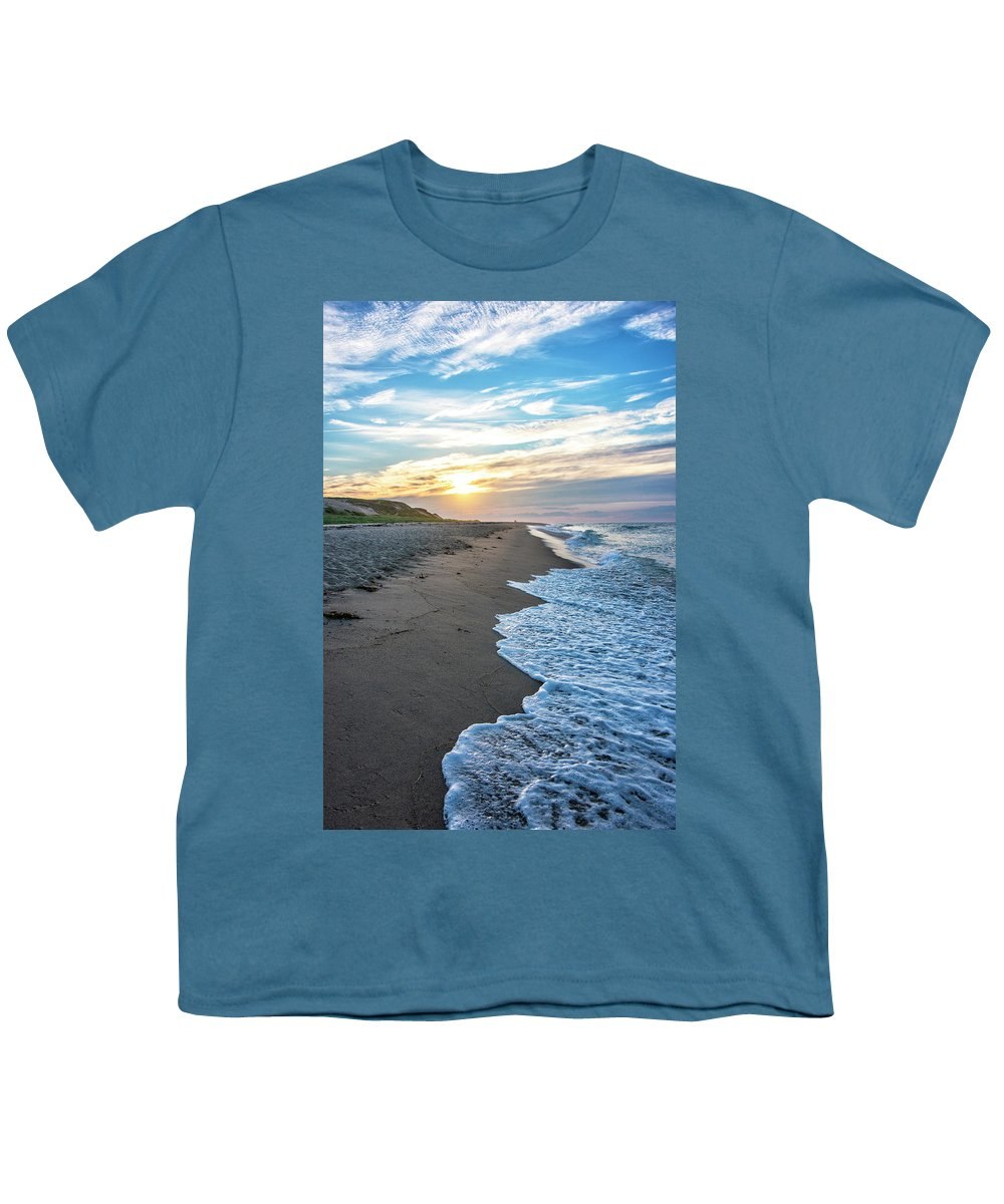 Cape Cod Sunset Youth T-Shirt featuring the photograph Sunset At Cape Cod National Seashore - Massachusetts by Brendan Reals