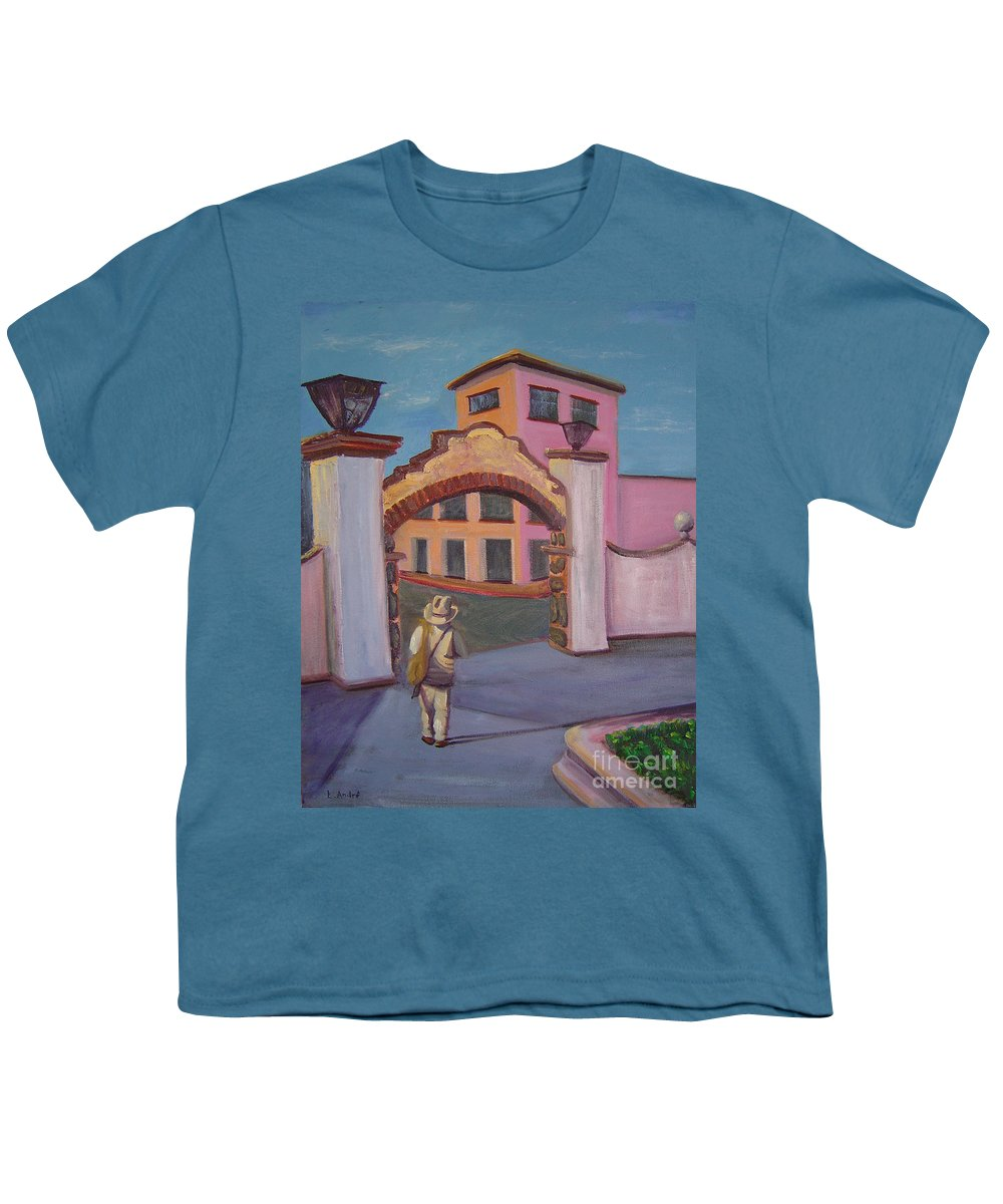 Mexico Youth T-Shirt featuring the painting Arco De Jiutepec by Lilibeth Andre