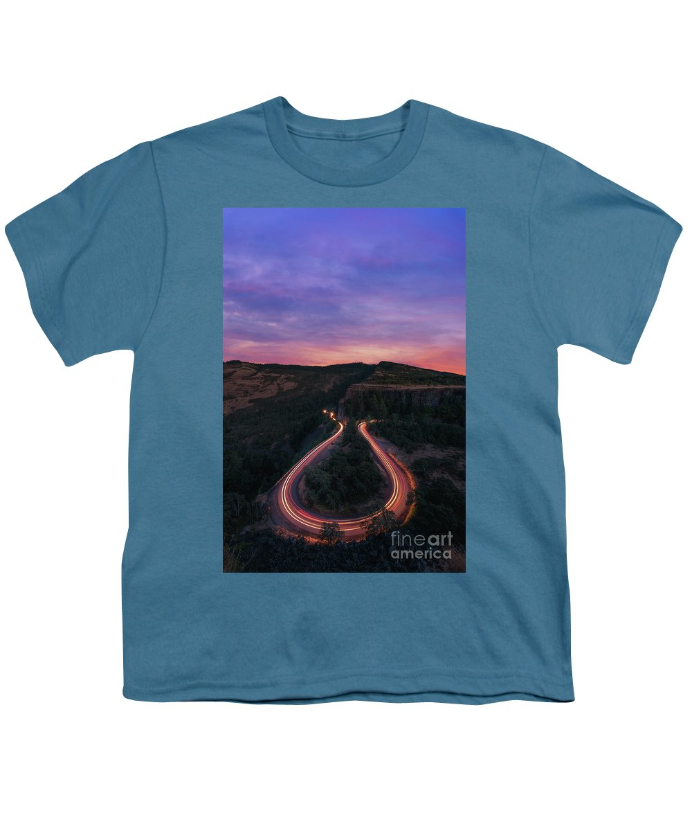 Rowena Crest Youth T-Shirt featuring the photograph Rowena Crest Horseshoe Bend Sunset by Michael Ver Sprill