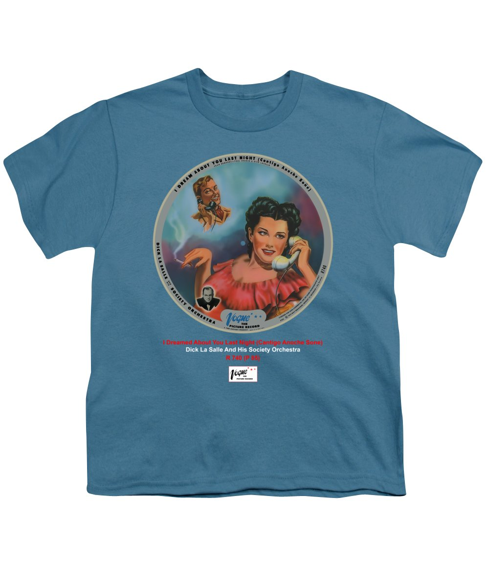 Vogue Picture Record Youth T-Shirt featuring the digital art Vogue Record Art - R 740 - P 85 by John Robert Beck