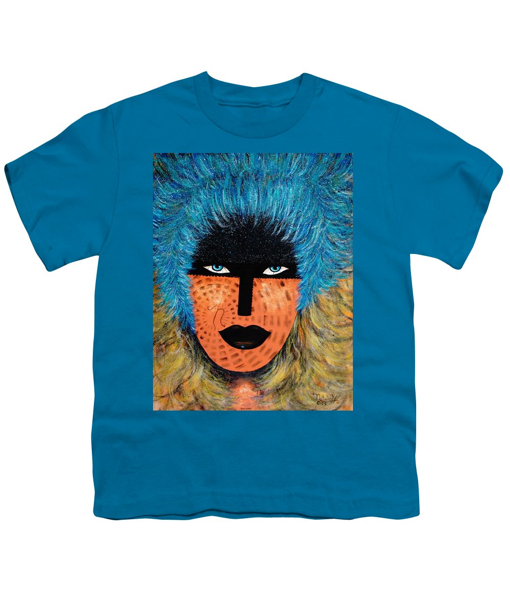 Woman Youth T-Shirt featuring the painting Viva Niva by Natalie Holland