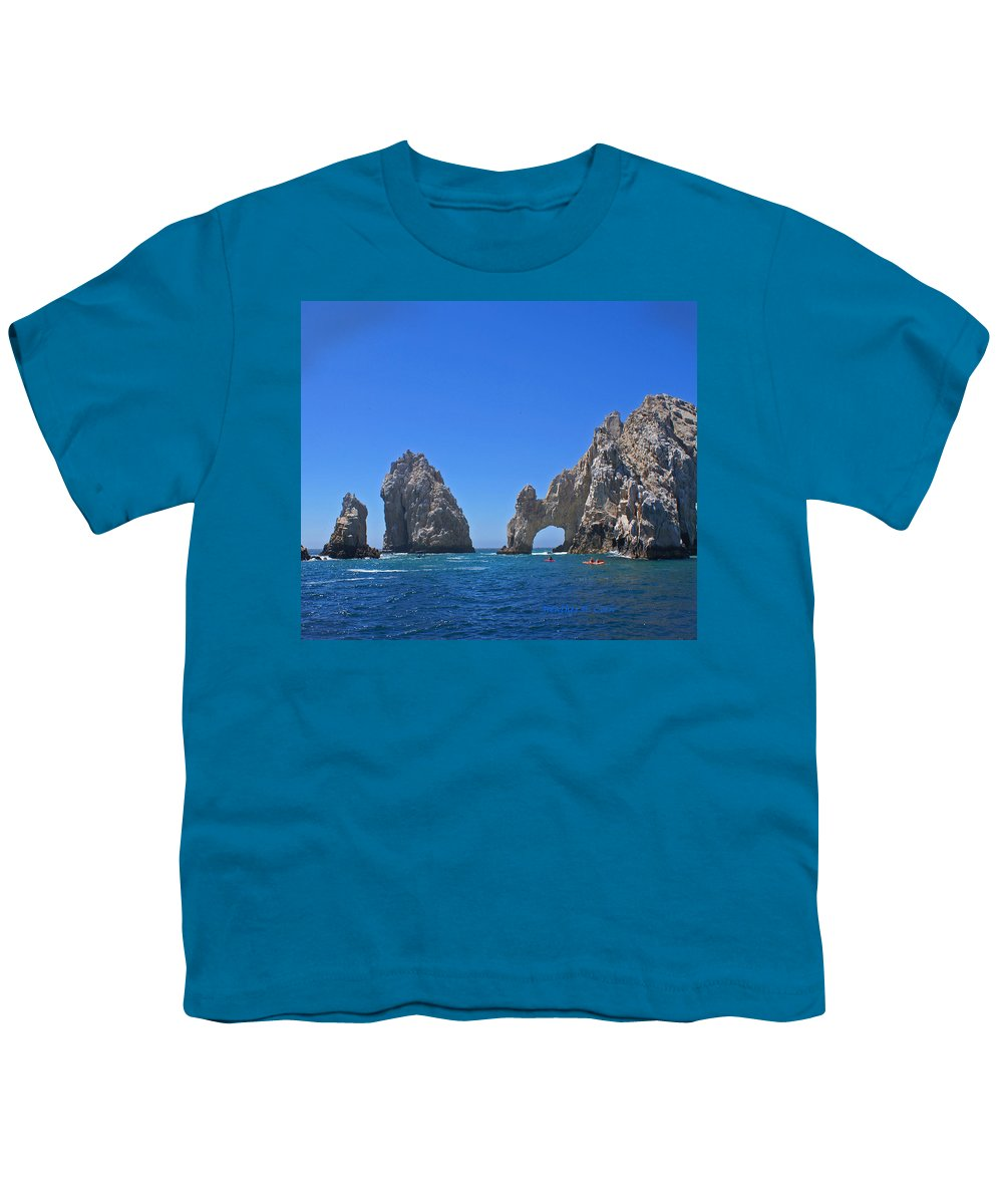 Mexico Youth T-Shirt featuring the photograph Arch At Cabo San Lucas by Heather Coen