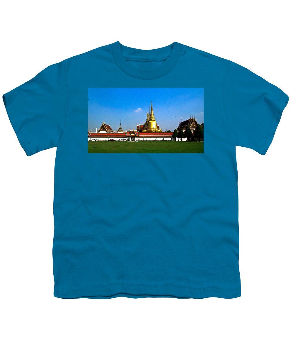 Buddha Youth T-Shirt featuring the photograph Buddhaist Temple by Douglas Barnett