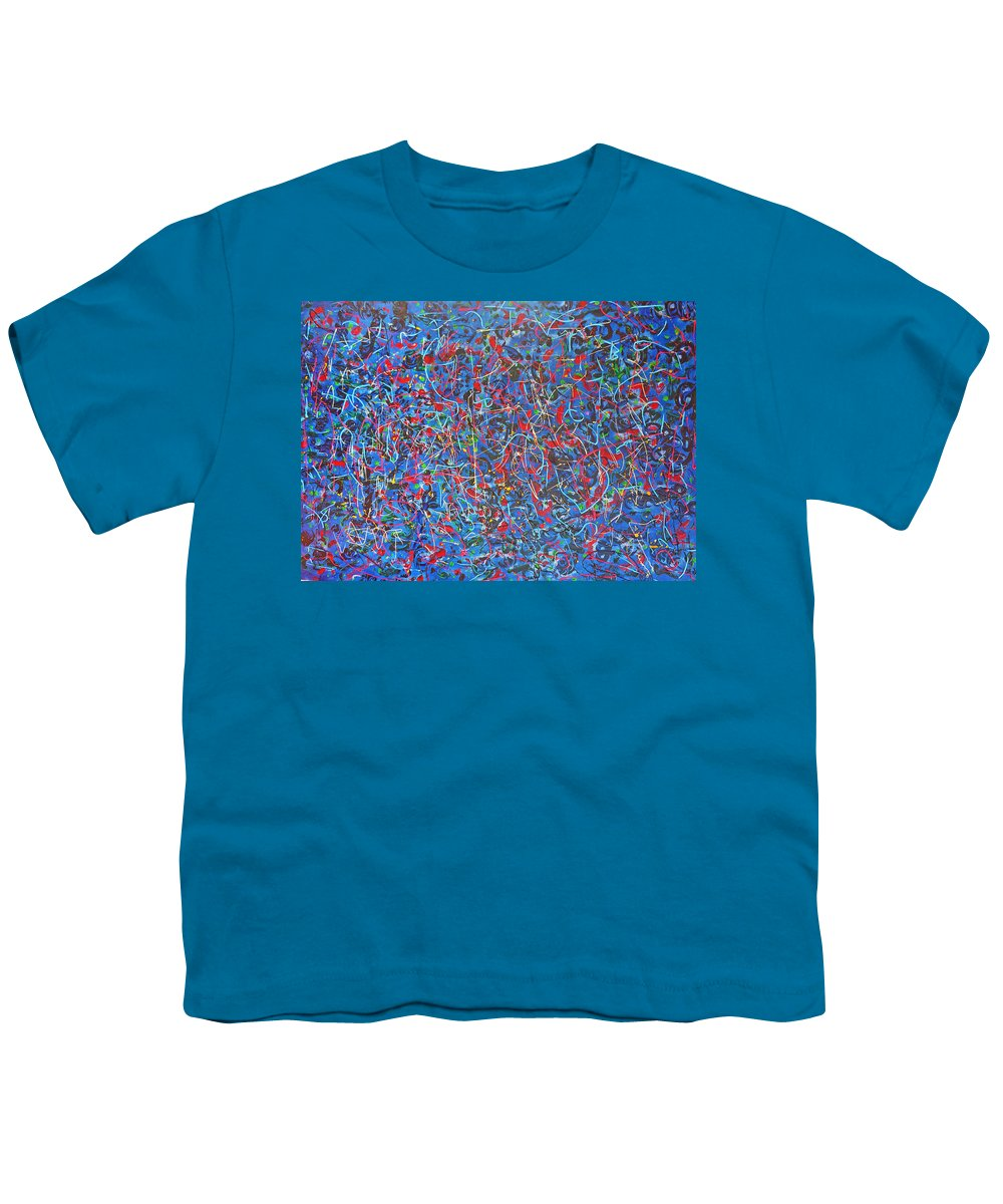 Abstract Youth T-Shirt featuring the painting Confetti by Ericka Herazo