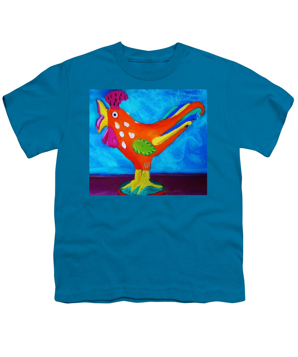Bird Youth T-Shirt featuring the pastel Dusty's Chick by Melinda Etzold