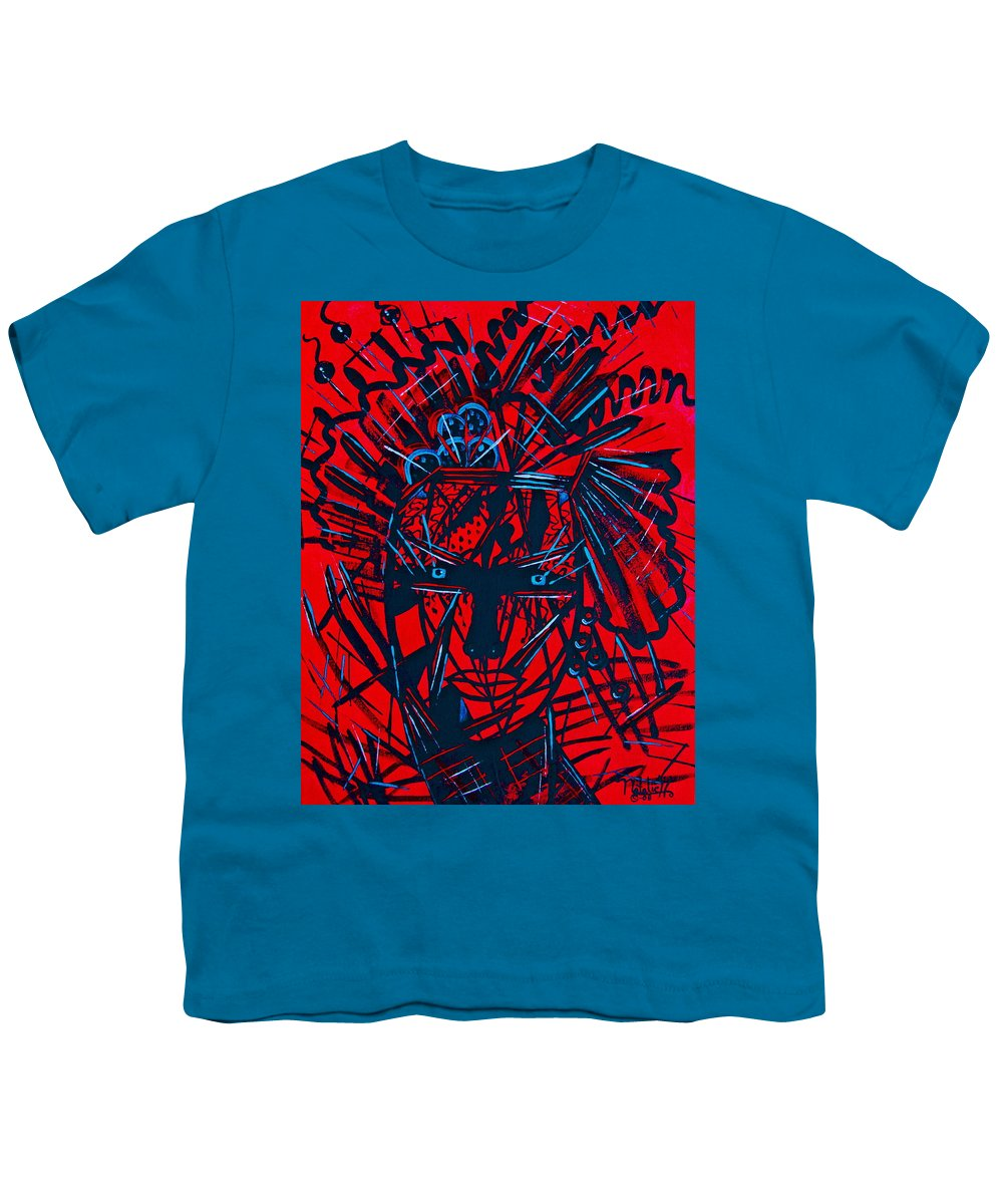 Abstract Youth T-Shirt featuring the painting Red Exotica by Natalie Holland