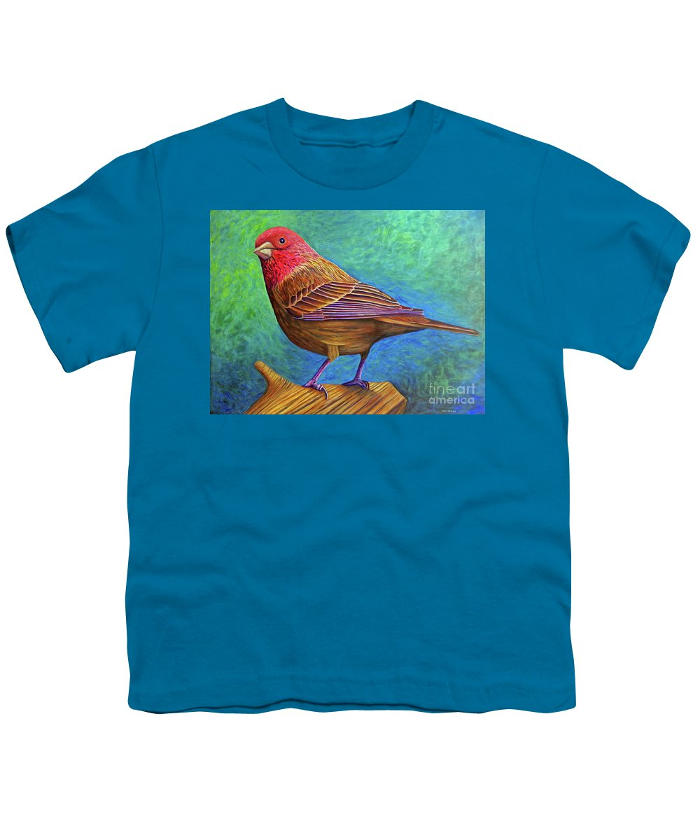 Bird Youth T-Shirt featuring the painting Sacred Space by Brian Commerford