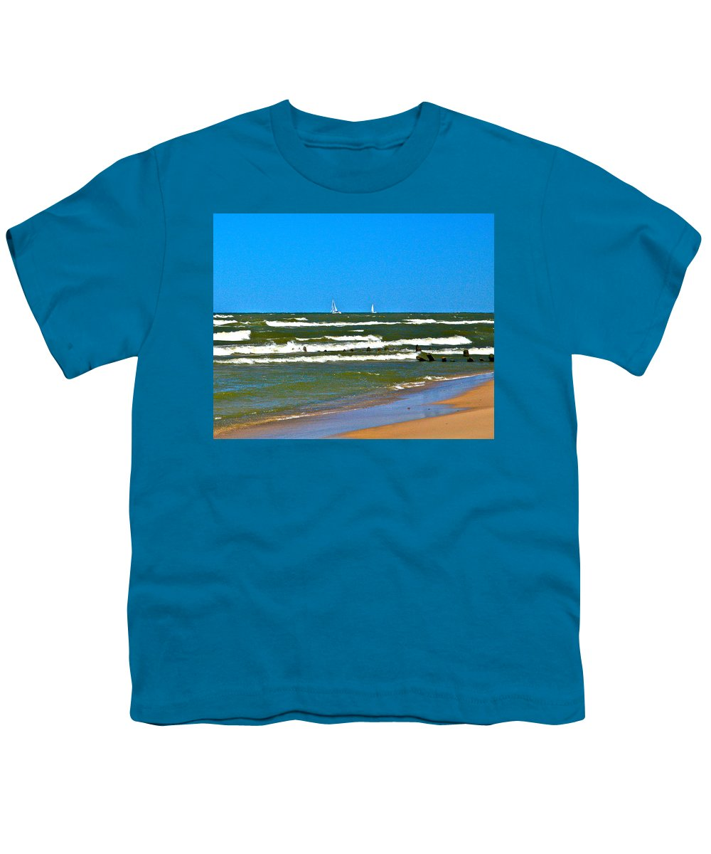 Water Youth T-Shirt featuring the photograph Sailing Away by Robert Pearson