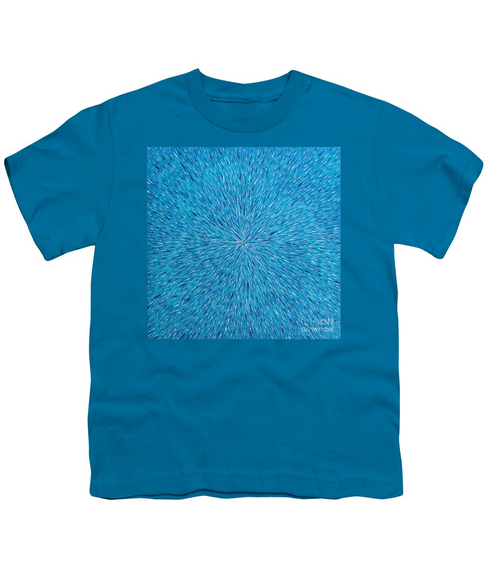 Abstract Youth T-Shirt featuring the painting Su Gaia Rain by Dean Triolo