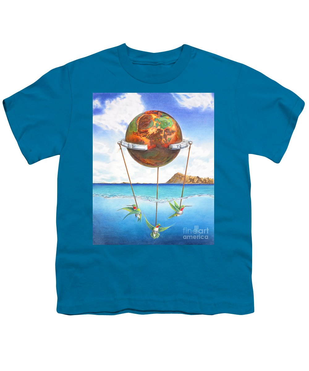 Surreal Youth T-Shirt featuring the painting Tethered Sphere by Melissa A Benson