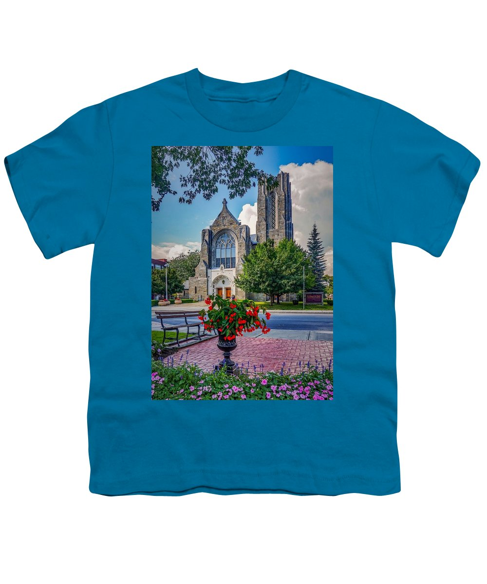 Youth T-Shirt featuring the photograph The church in summer by Kendall McKernon