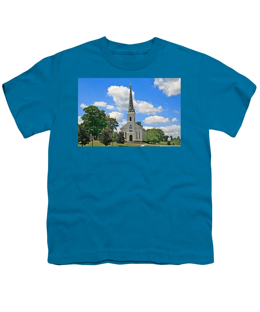 Usa Youth T-Shirt featuring the photograph The Little Country Church by Robert Pearson