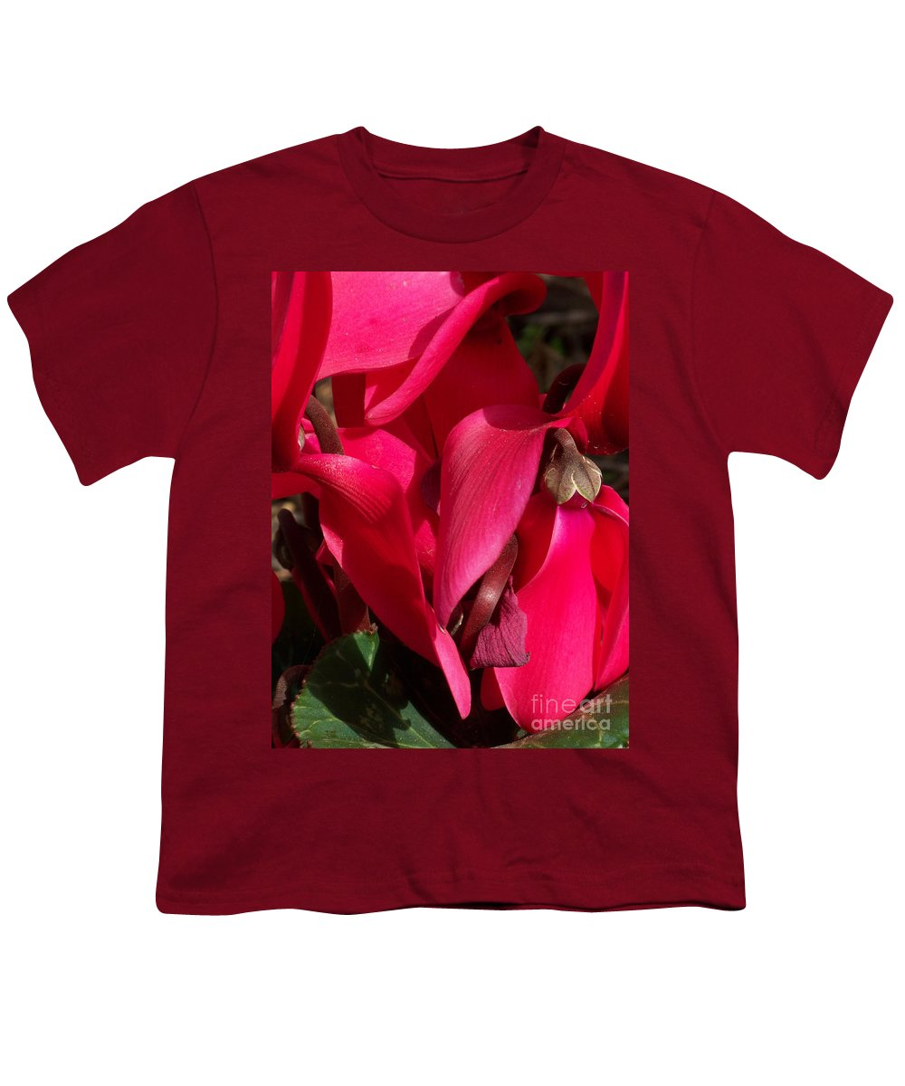 Flowers Youth T-Shirt featuring the photograph Cyclamen by Kathy McClure