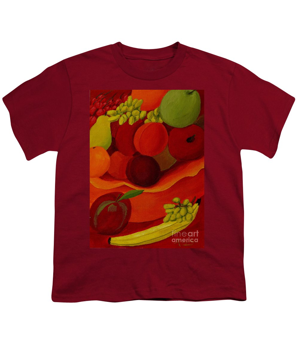 Fruit Youth T-Shirt featuring the painting Fruit-still Life by Anthony Dunphy