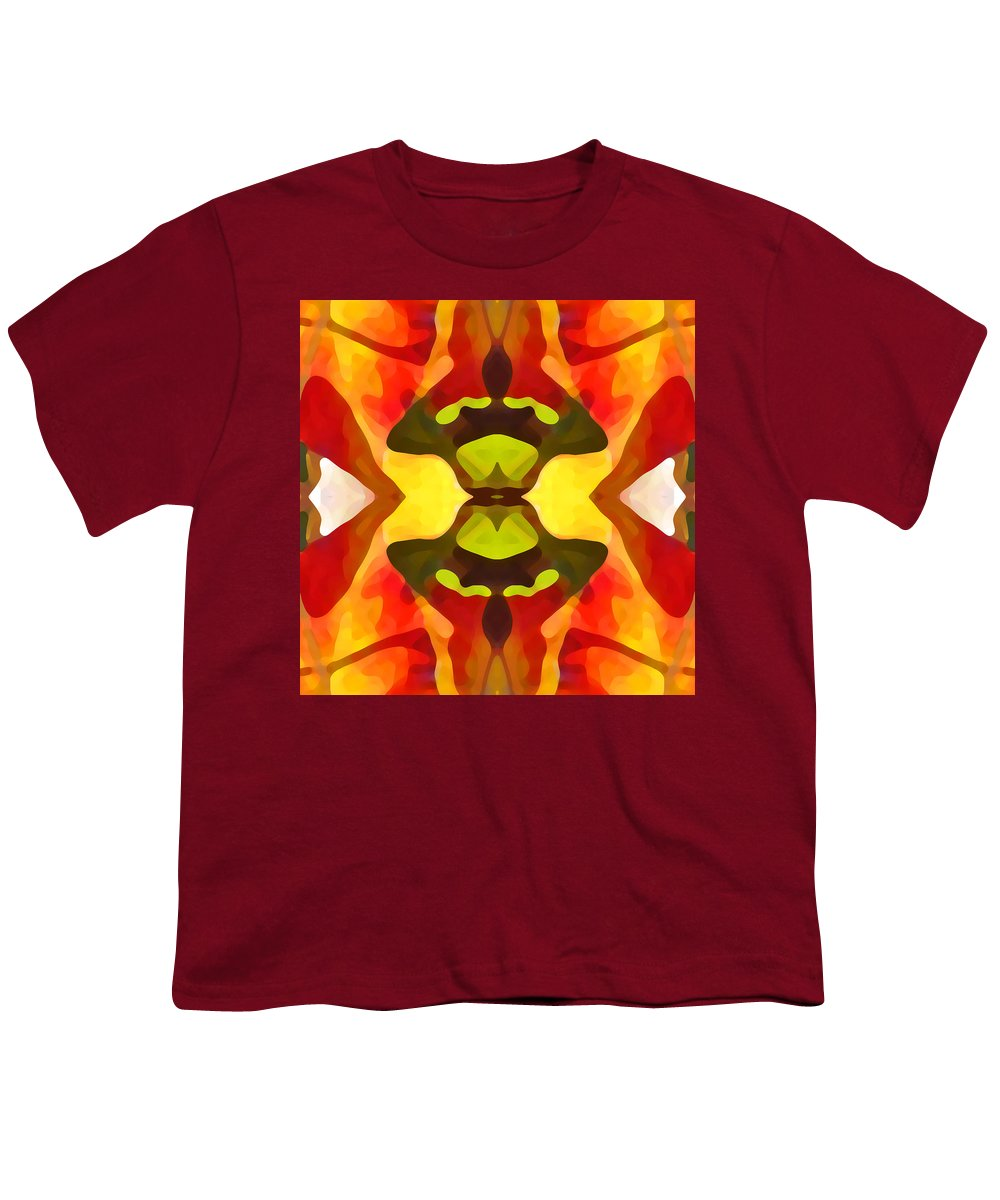 Abstract Youth T-Shirt featuring the painting Tropical Leaf Pattern 1 by Amy Vangsgard