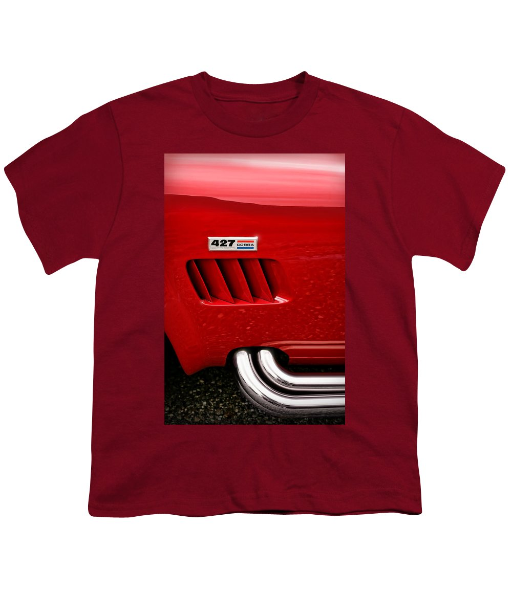 Ac Youth T-Shirt featuring the photograph 427 Ford Cobra by Gordon Dean II
