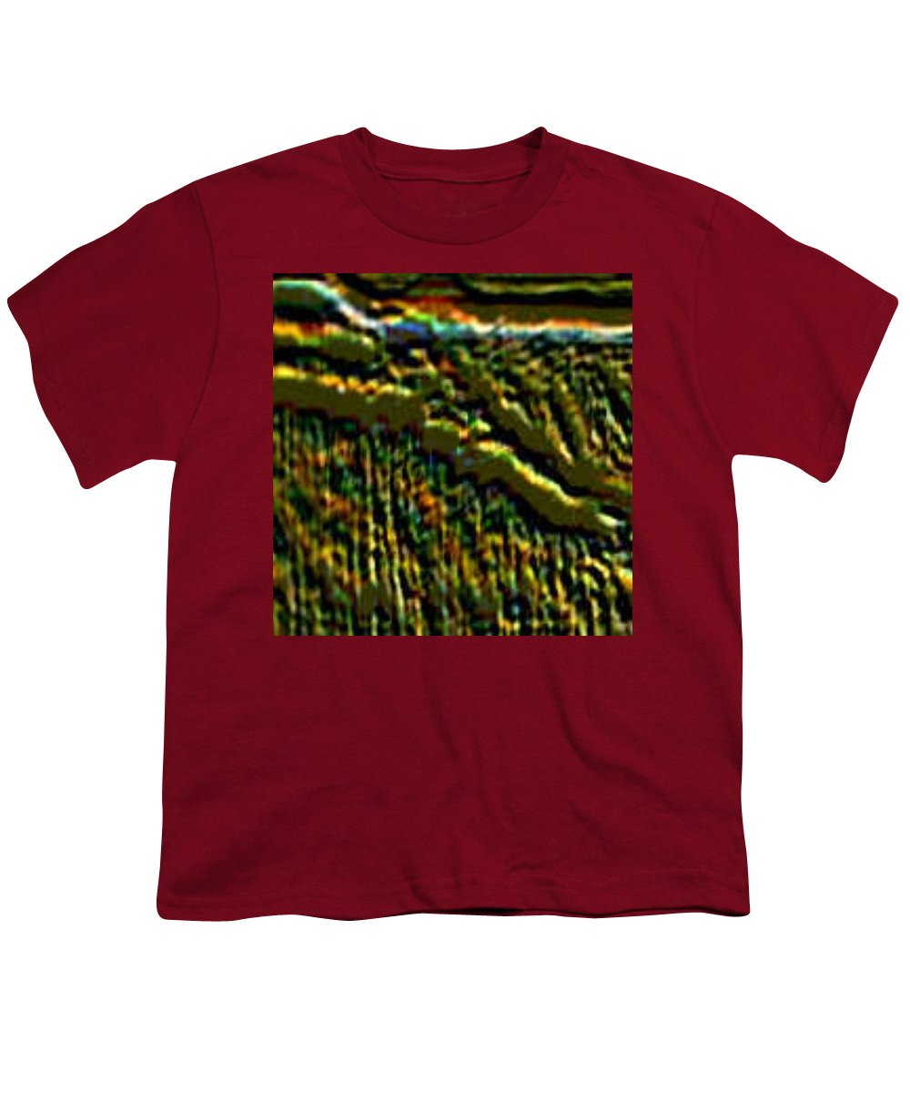 Canyons Youth T-Shirt featuring the digital art South Rim- N -green Grandeur by Brenda L Spencer