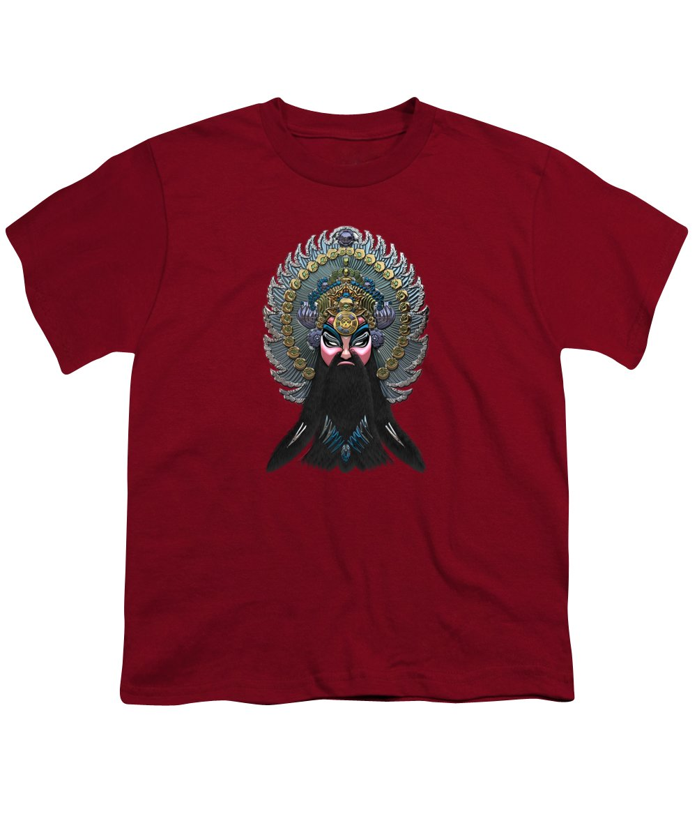 �treasures Of China� By Serge Averbukh Youth T-Shirt featuring the photograph Chinese Masks - Large Masks Series - The Emperor by Serge Averbukh