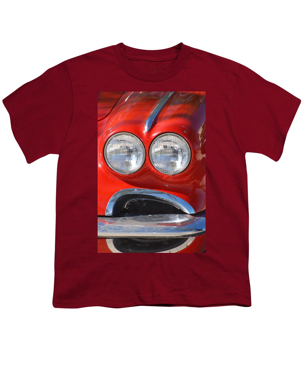 Corvette Youth T-Shirt featuring the photograph Little Red Corvette by Rob Hans