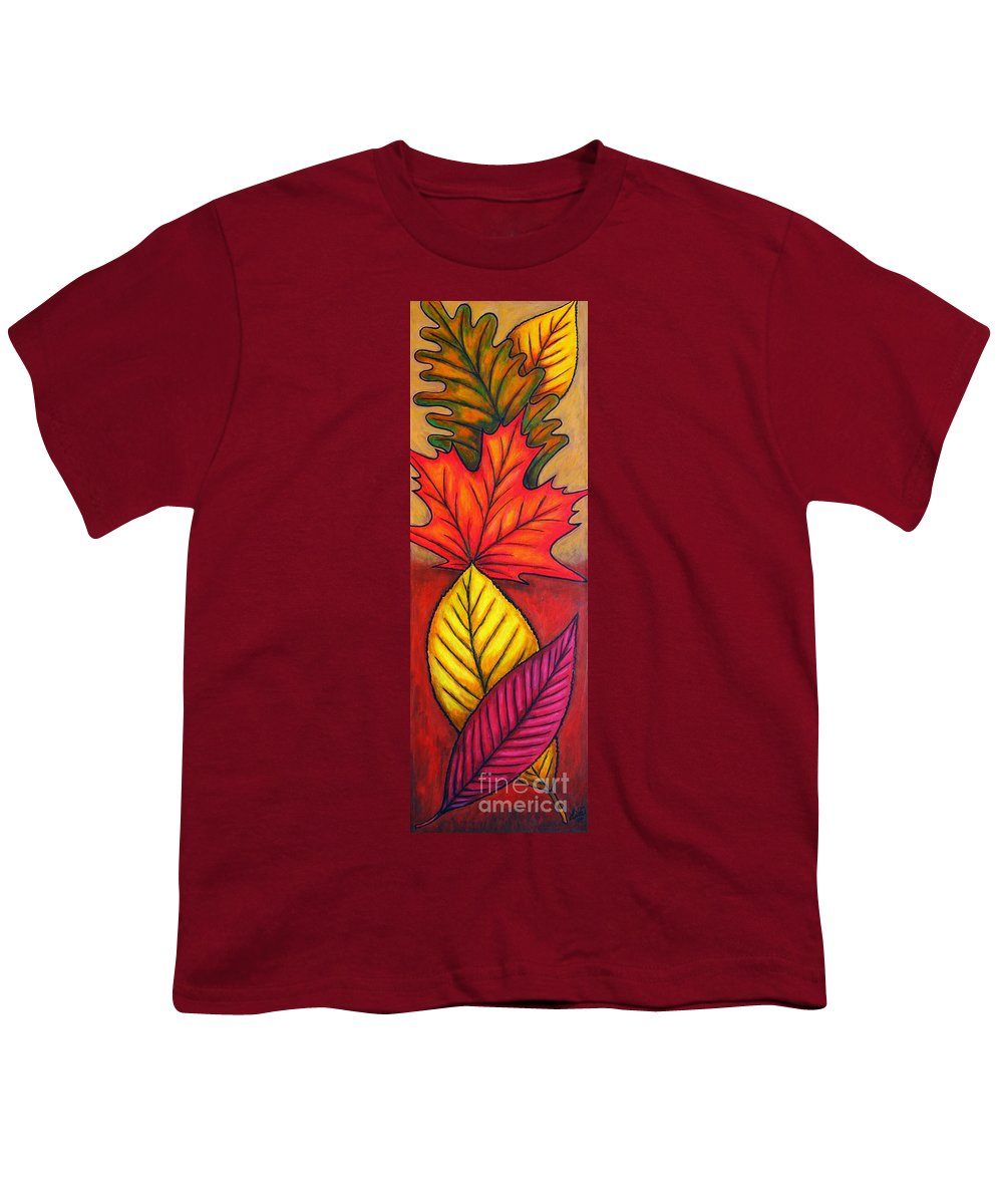 Autumn Youth T-Shirt featuring the painting Autumn Glow by Lisa Lorenz