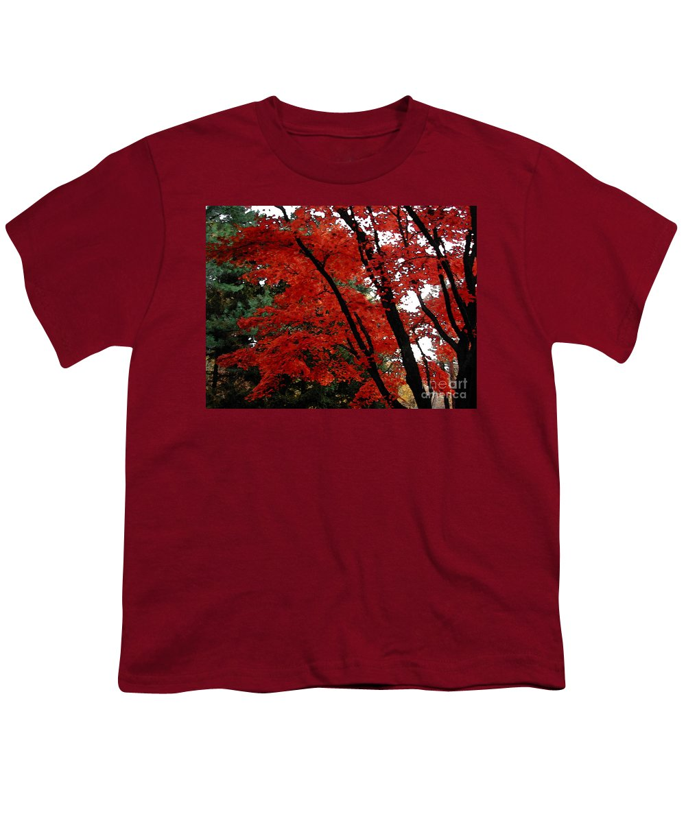 Autumn Youth T-Shirt featuring the photograph Autumn In New England by Melissa A Benson