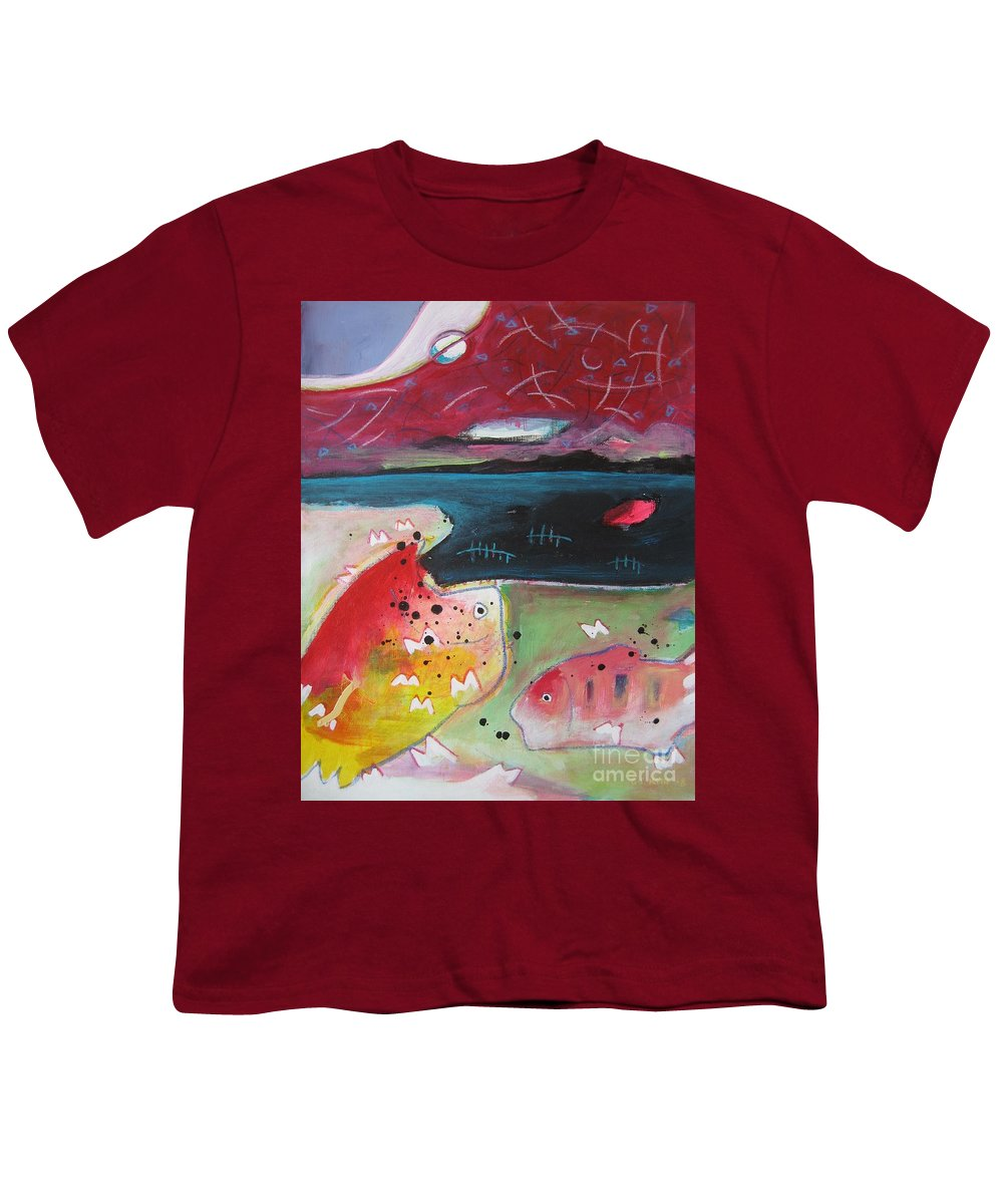 Acrylic Paintings Youth T-Shirt featuring the painting Baieverte by Seon-Jeong Kim