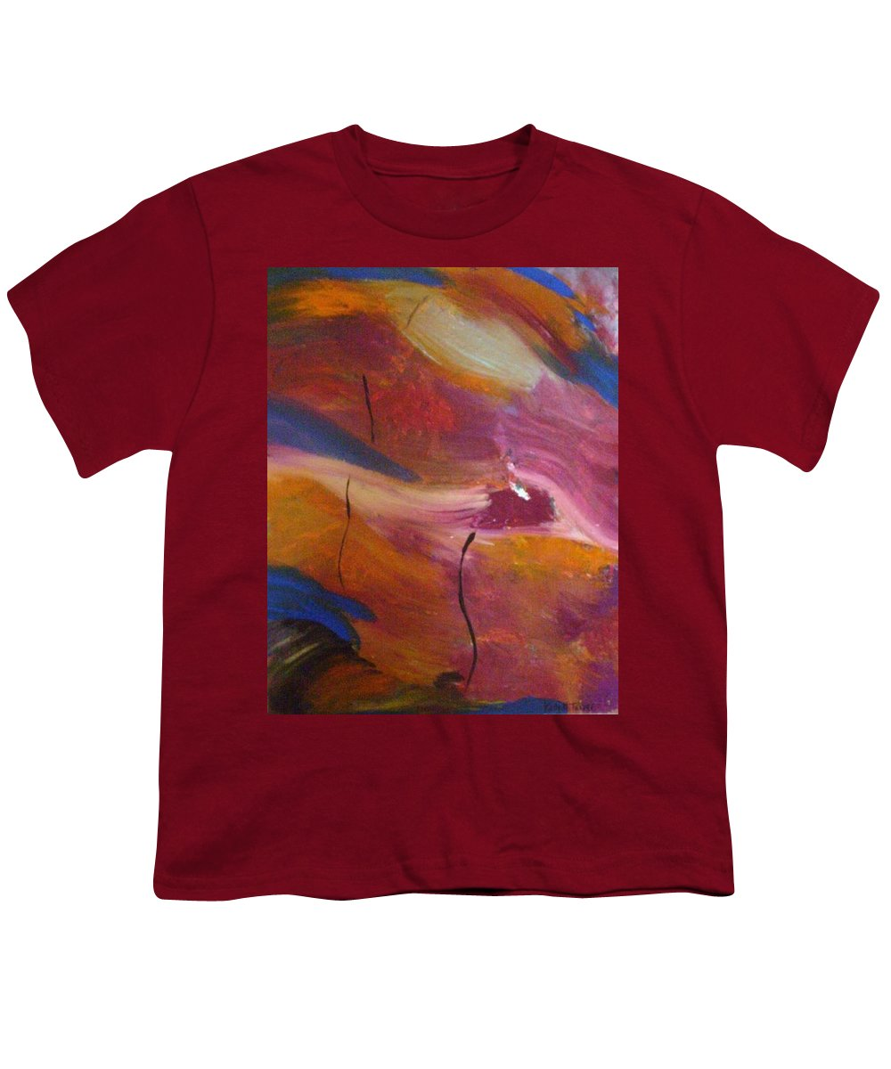 Abstract Art Youth T-Shirt featuring the painting Broken Heart by Kelly Turner