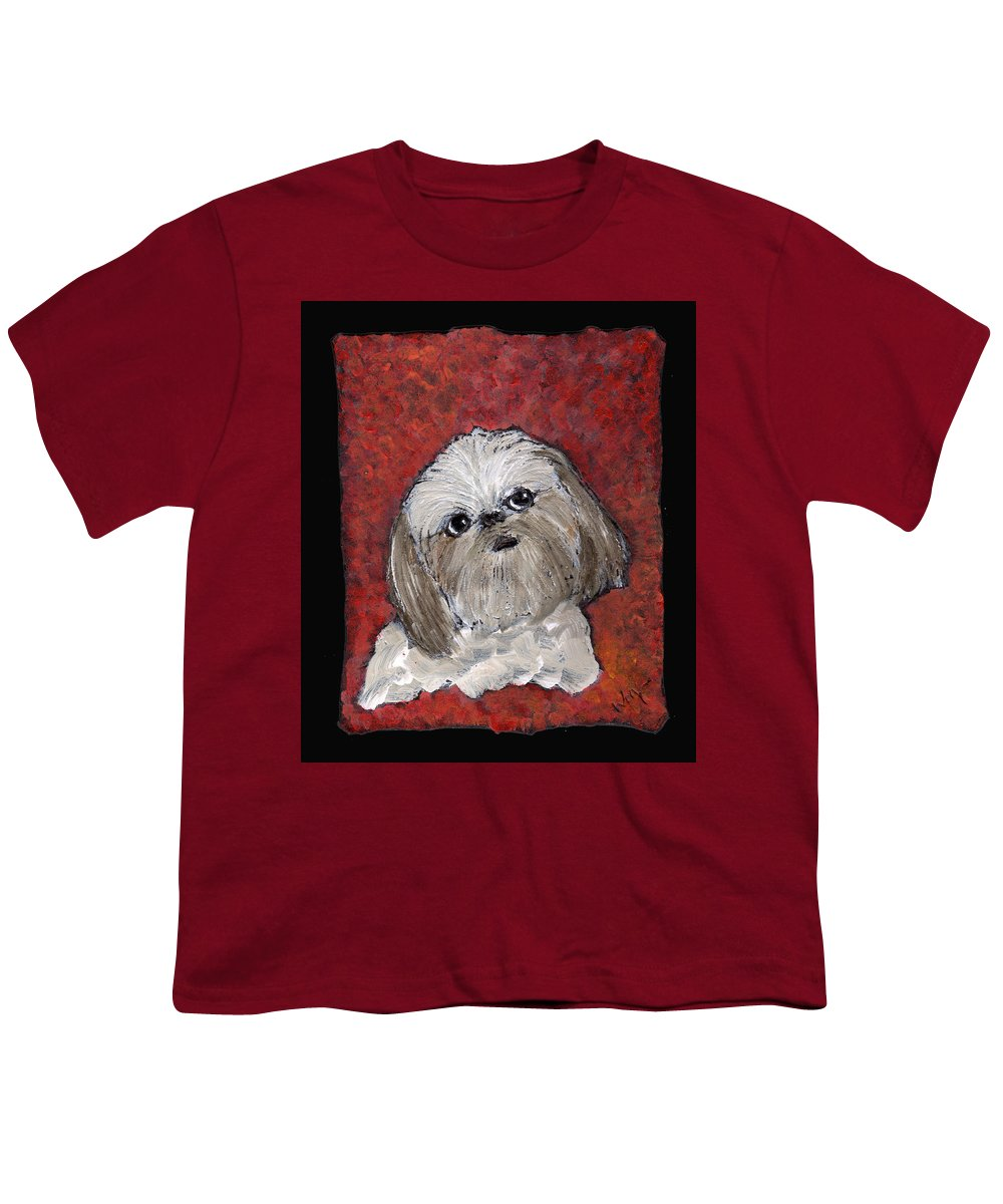 Dog Youth T-Shirt featuring the painting Buster by Wayne Potrafka