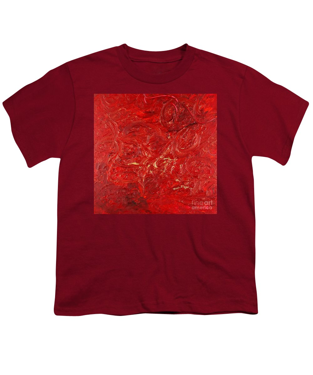Red Youth T-Shirt featuring the painting Celebration by Nadine Rippelmeyer