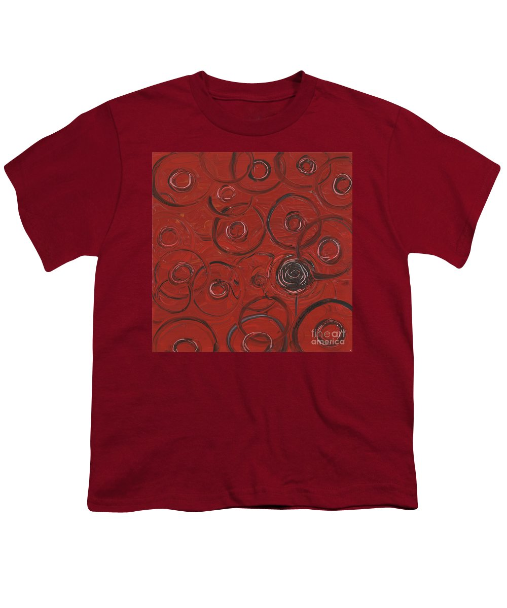 Red Youth T-Shirt featuring the painting Choices In Red by Nadine Rippelmeyer