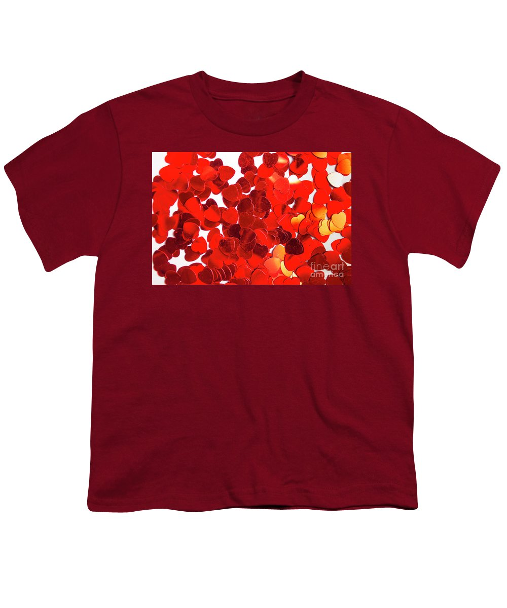 Confetti Youth T-Shirt featuring the photograph Decorative Heart Background by Jorgo Photography - Wall Art Gallery