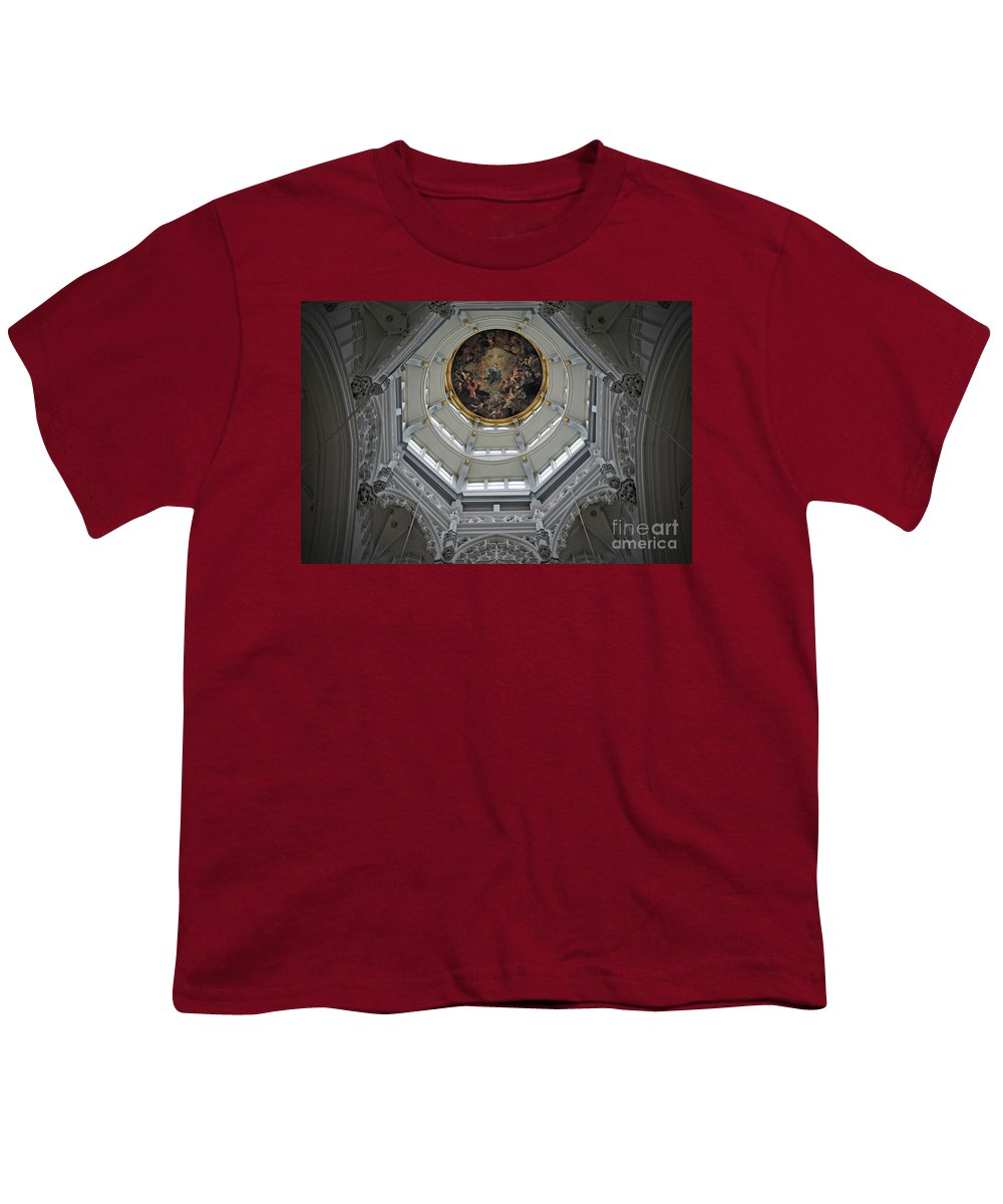 Christian Youth T-Shirt featuring the photograph Dome Of Cathedral Of Our Lady Antwerp by Jost Houk