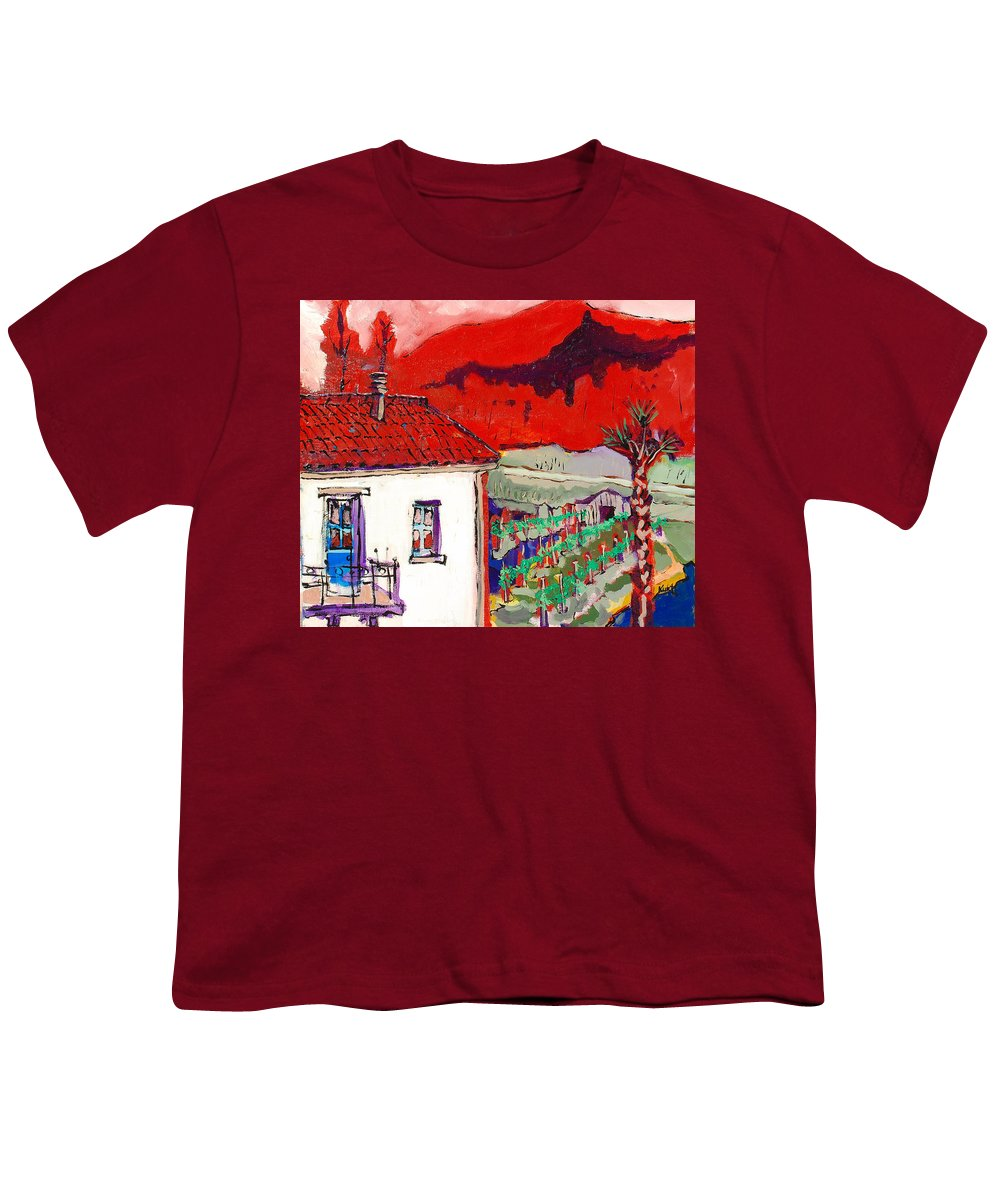 Youth T-Shirt featuring the painting Enrico's View by Kurt Hausmann