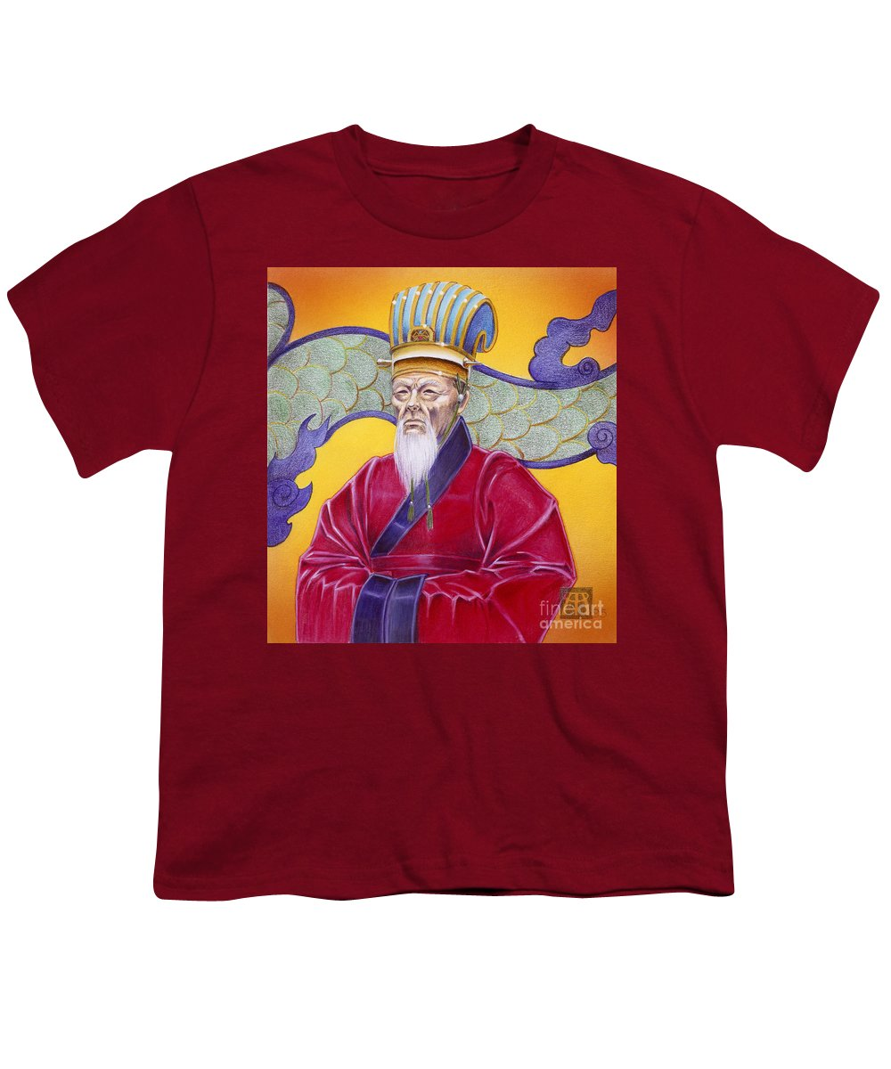 Oriental Youth T-Shirt featuring the painting Gao Zhang by Melissa A Benson