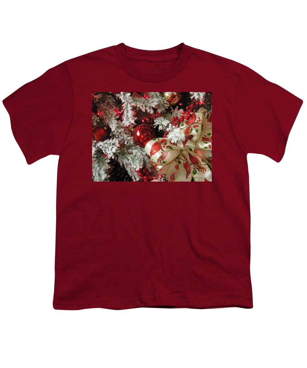 Tree Youth T-Shirt featuring the photograph Holiday Cheer I by Maria Bonnier-Perez