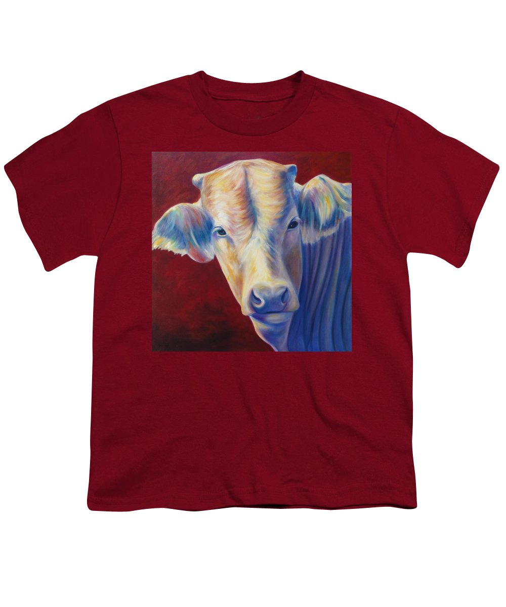 Bull Youth T-Shirt featuring the painting Jorge by Shannon Grissom